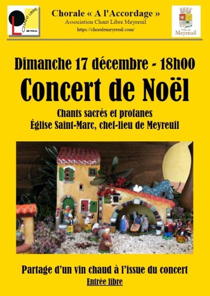 Affiche concert de Noel 2017
