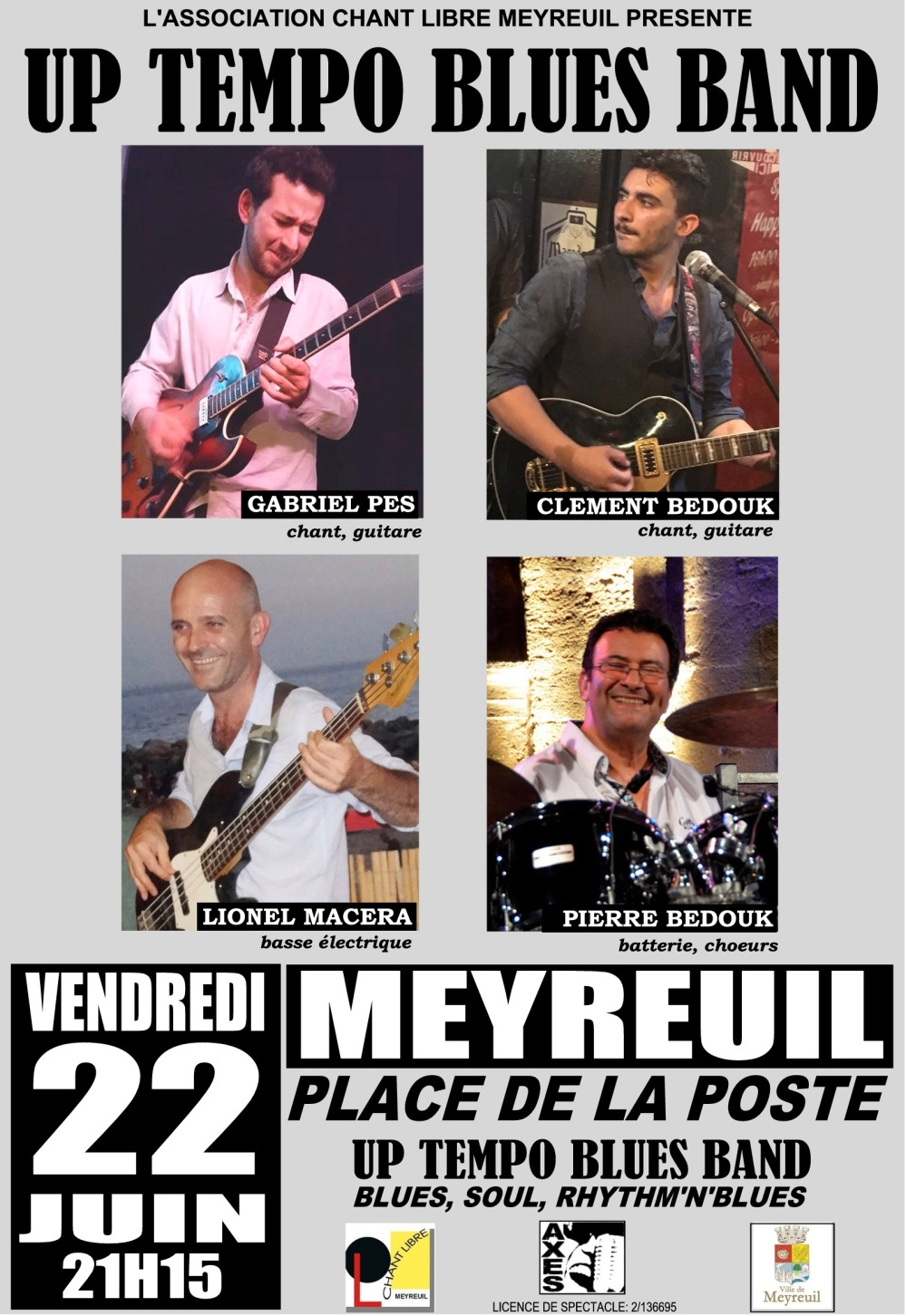 AFFICHE UP TEMPO BLUES BAND 22 JUIN 2018
